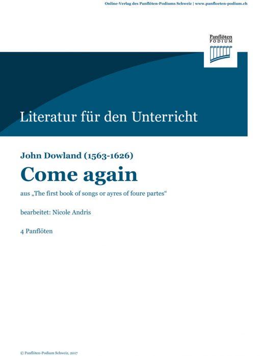 Cover Come again   John Dowland