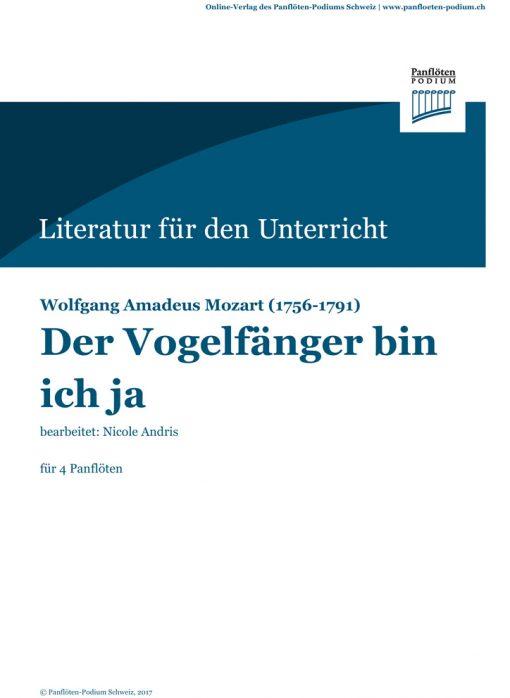 Cover Der Vogelfänger bin ich ja   Wolfgang Amadeus Mozart