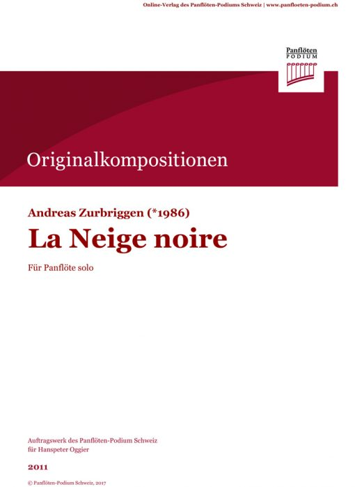 Cover La Neige noire - Andreas Zurbriggen
