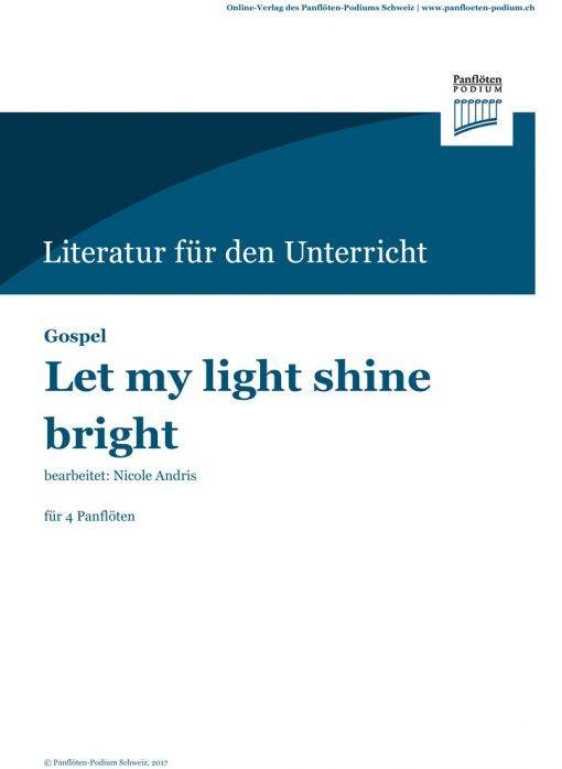 Cover Let my light shine bright   Gospel